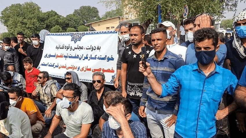 حضور یگان ویژه ضدشورش در هفت تپه برای مقابله با کارگران اعتصابی