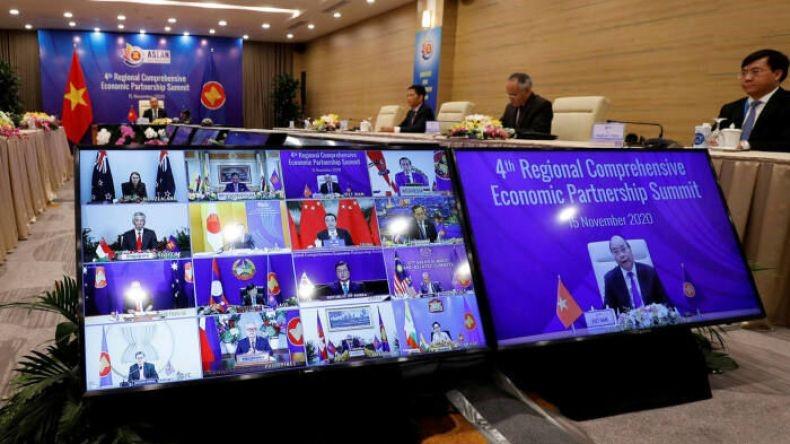 امضای پیمان تجاری چین، ژاپن، کره جنوبی و ۱۲ کشور آسیایی