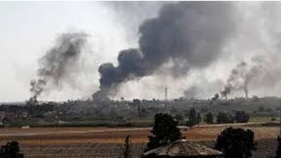 حمله گسترده نیروهای وابسته به ترکیه به مواضع شبهنظامیان کرد سوریه