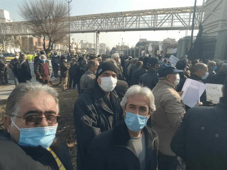 تجمع اعتراضی بازنشستگان در تهران و سراسر کشور