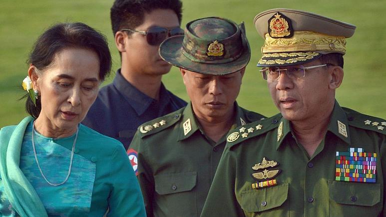 ارتش میانمار سران حکومت این کشور را دستگیر کرد